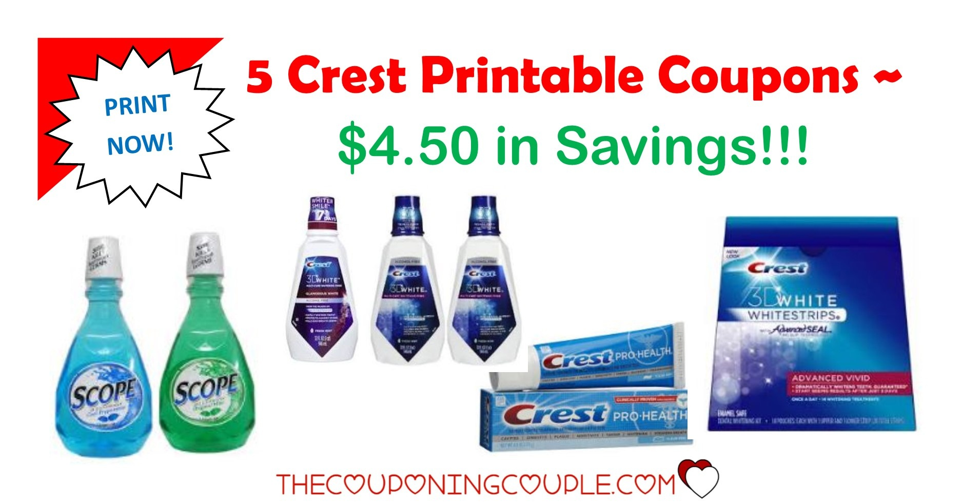 Crest Toothpaste And Scope Mouthwash As Low As Free At Cvs