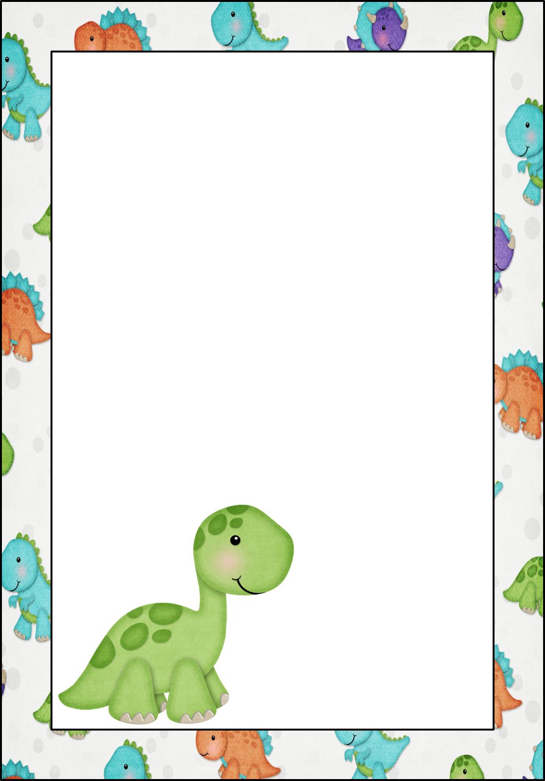 Free Printable Dinosaur Baby Shower Invitations