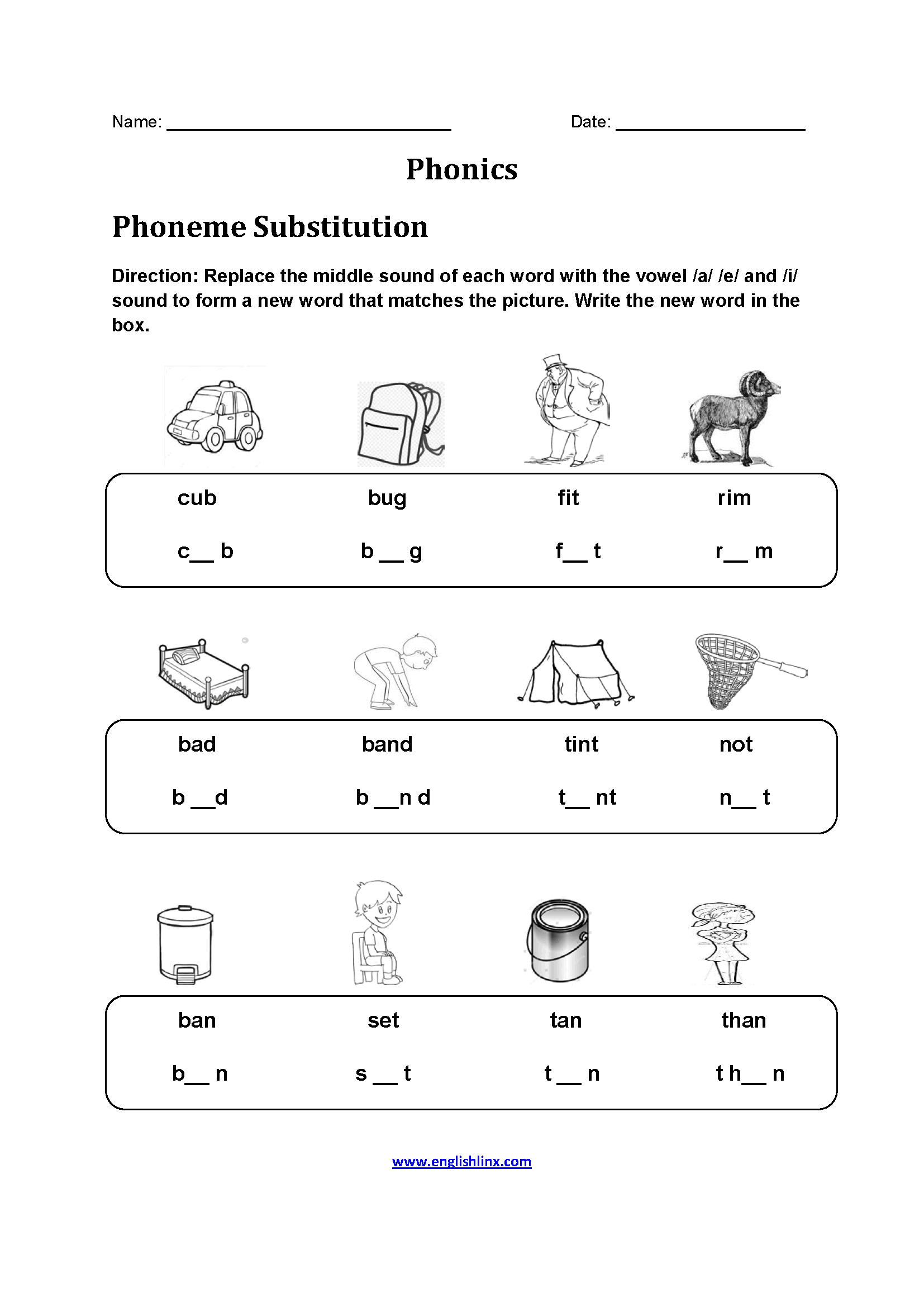 hight resolution of Phonics Worksheets For First Grade Printable   Printable Worksheets and  Activities for Teachers