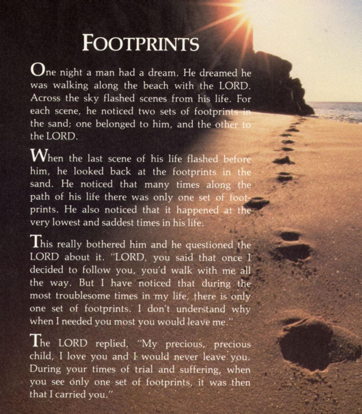 Footprints In The Sand Printable Free