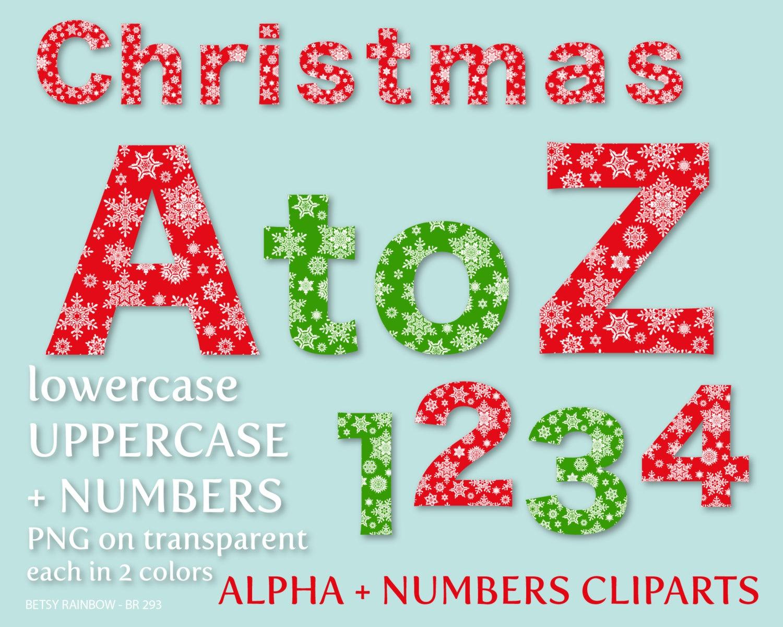 Free Printable Christmas Alphabet