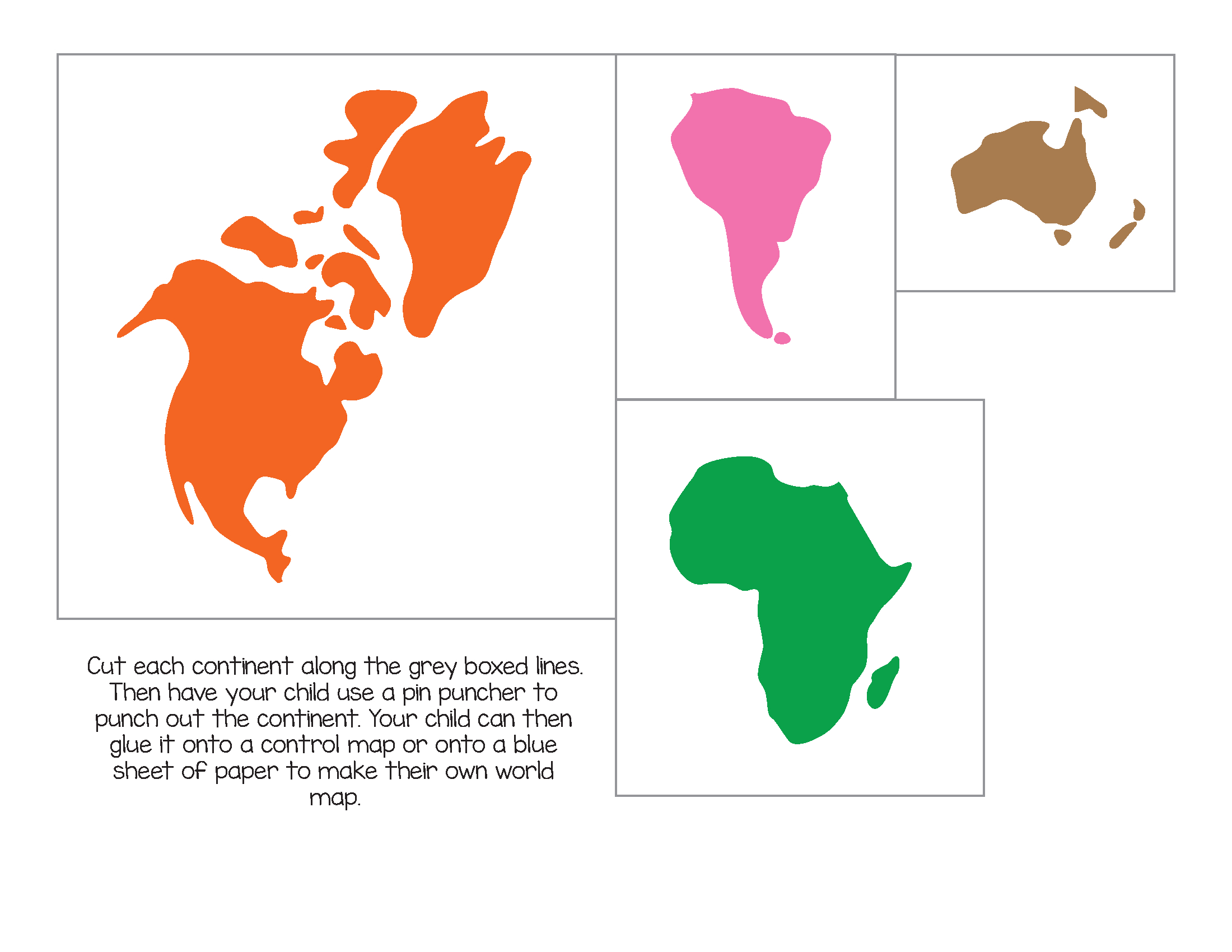 How To Make A Montessori Felt Continent Map With Free 3