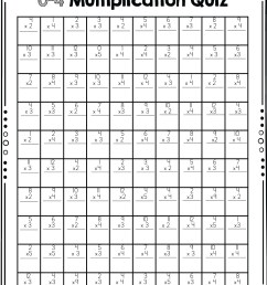 Printable Multiplication Worksheets Drills   Printable Worksheets and  Activities for Teachers [ 1438 x 1082 Pixel ]