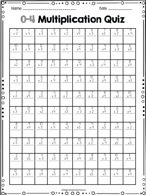small resolution of Printable Multiplication Worksheets Drills   Printable Worksheets and  Activities for Teachers
