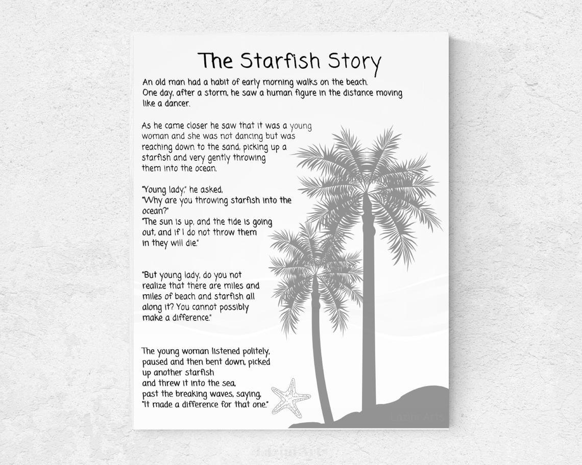 Starfish Story Printable Free