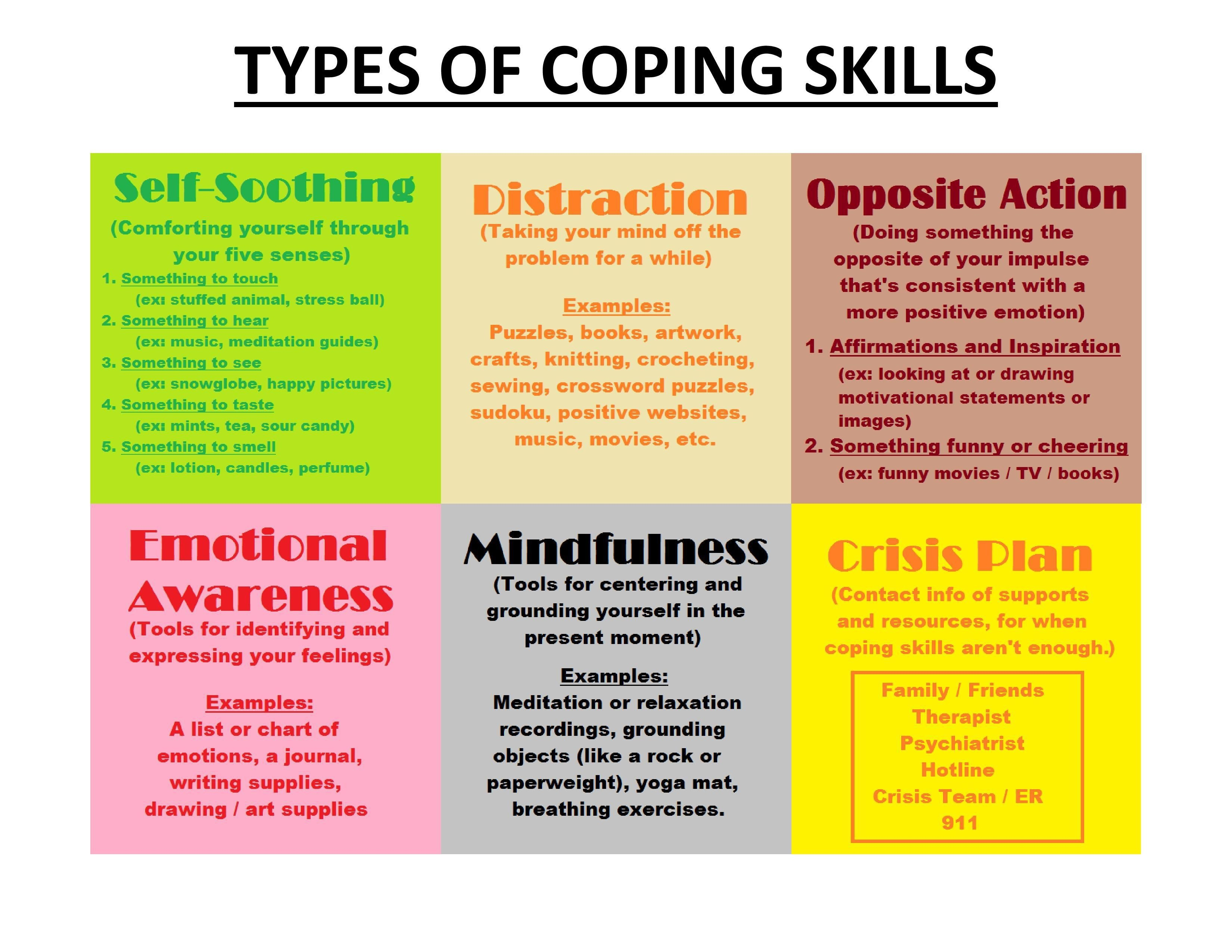 Free Printable Coping Skills Worksheets