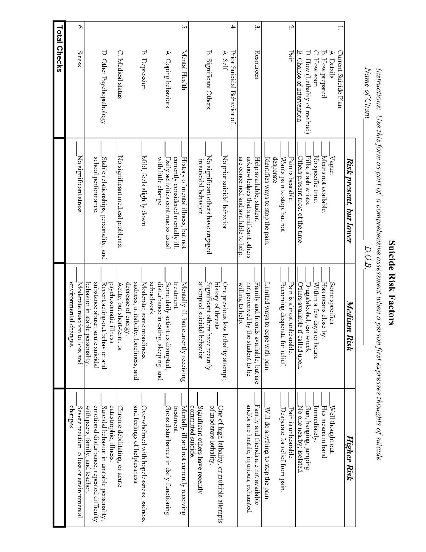 Free Printable Worksheets On Depression