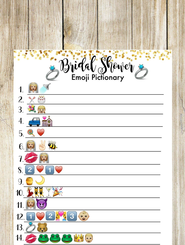 Wedding Emoji Pictionary Free Printable