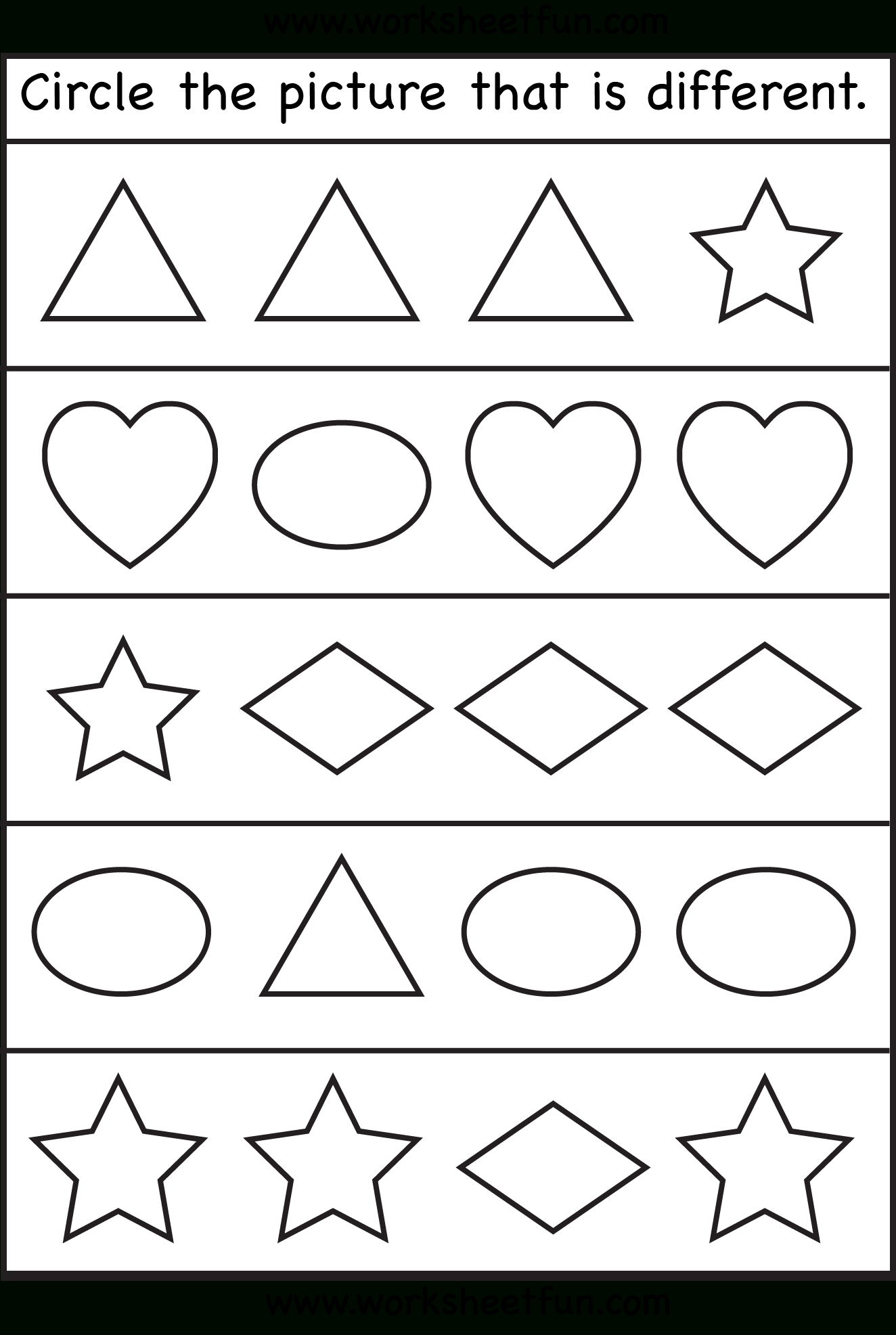 Alike And Different Worksheet