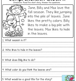 3rd Grade Reading Comprehension Free Printable Worksheet   Printable  Worksheets and Activities for Teachers [ 1325 x 1024 Pixel ]