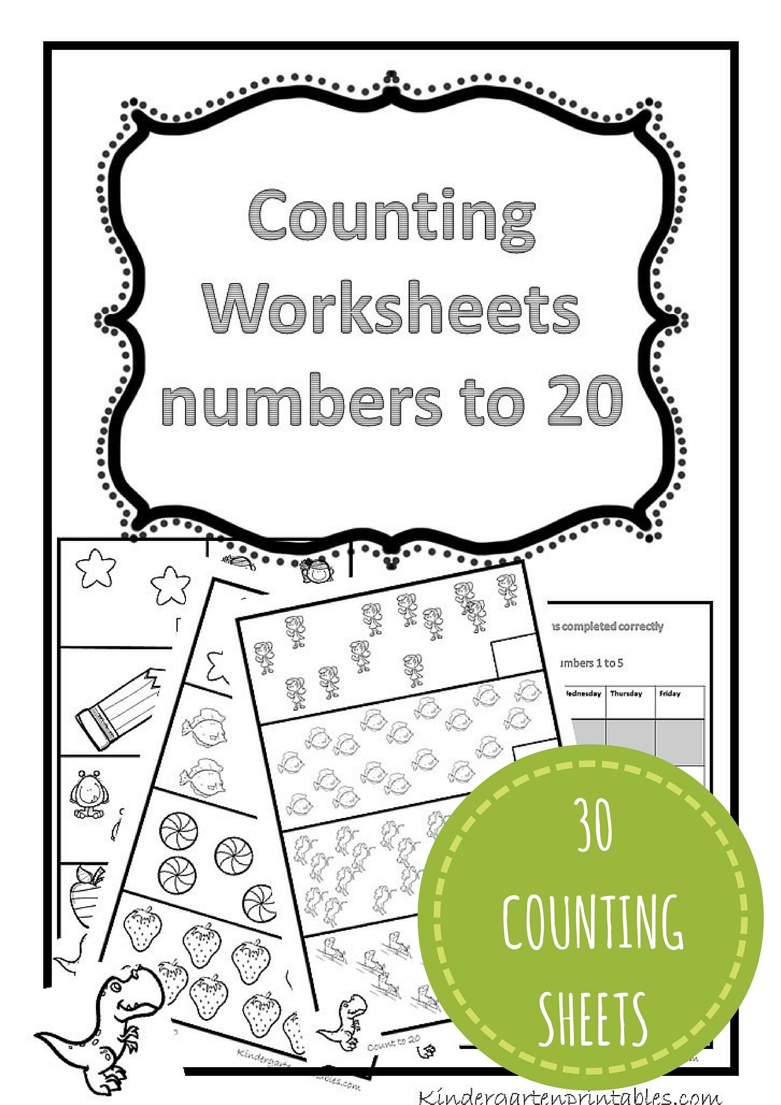 Free Printable Counting Worksheets 1 20
