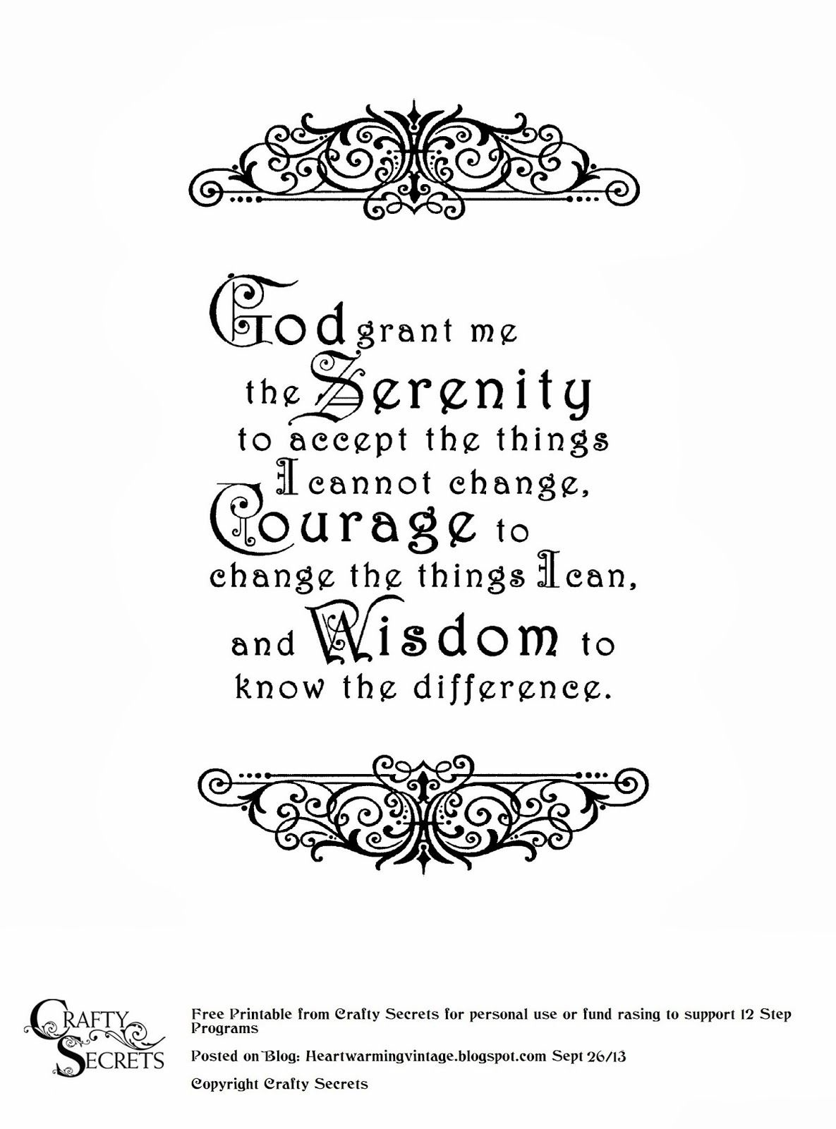 Serenity Prayer Digital Vector Files Instant Download For