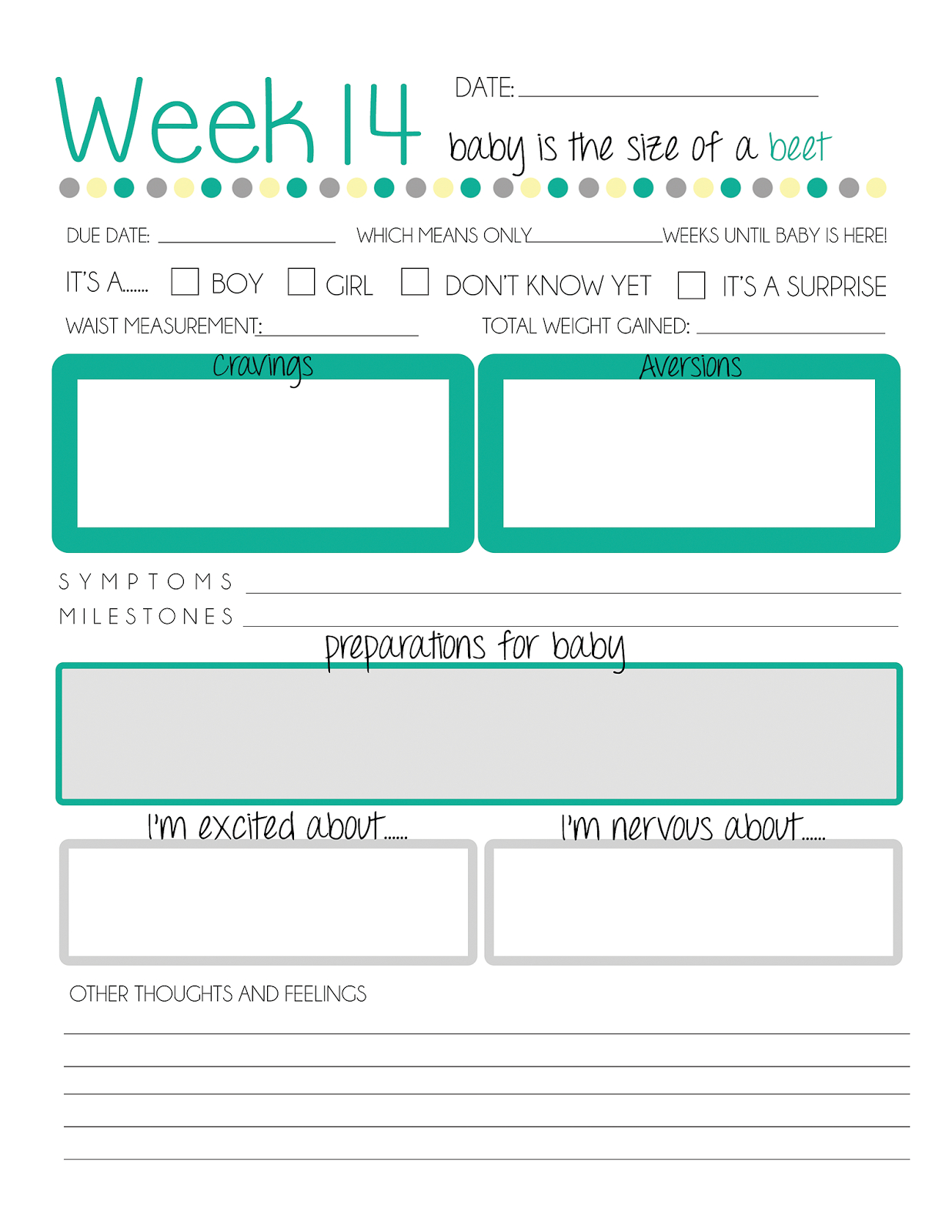 Baby Journal Template