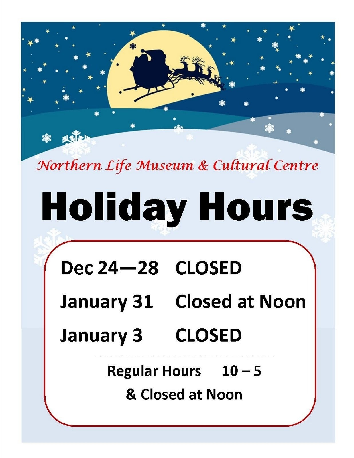 holiday closure sign template