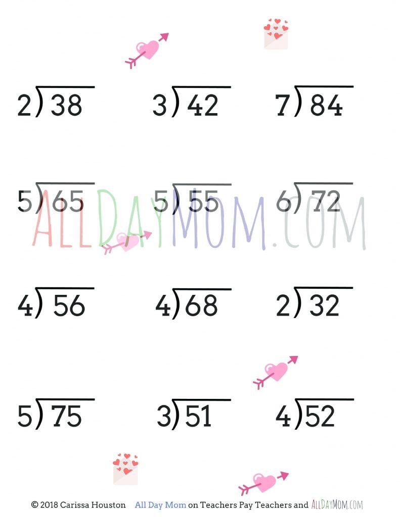 Long Division Questions Math