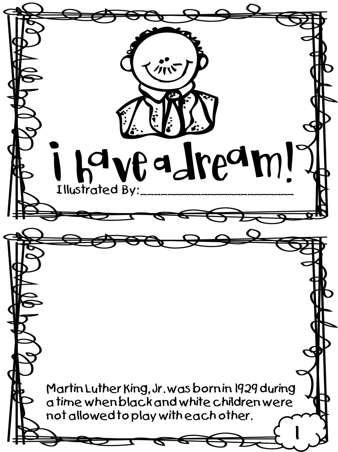 Martin Luther King Free Printable Coloring Pages