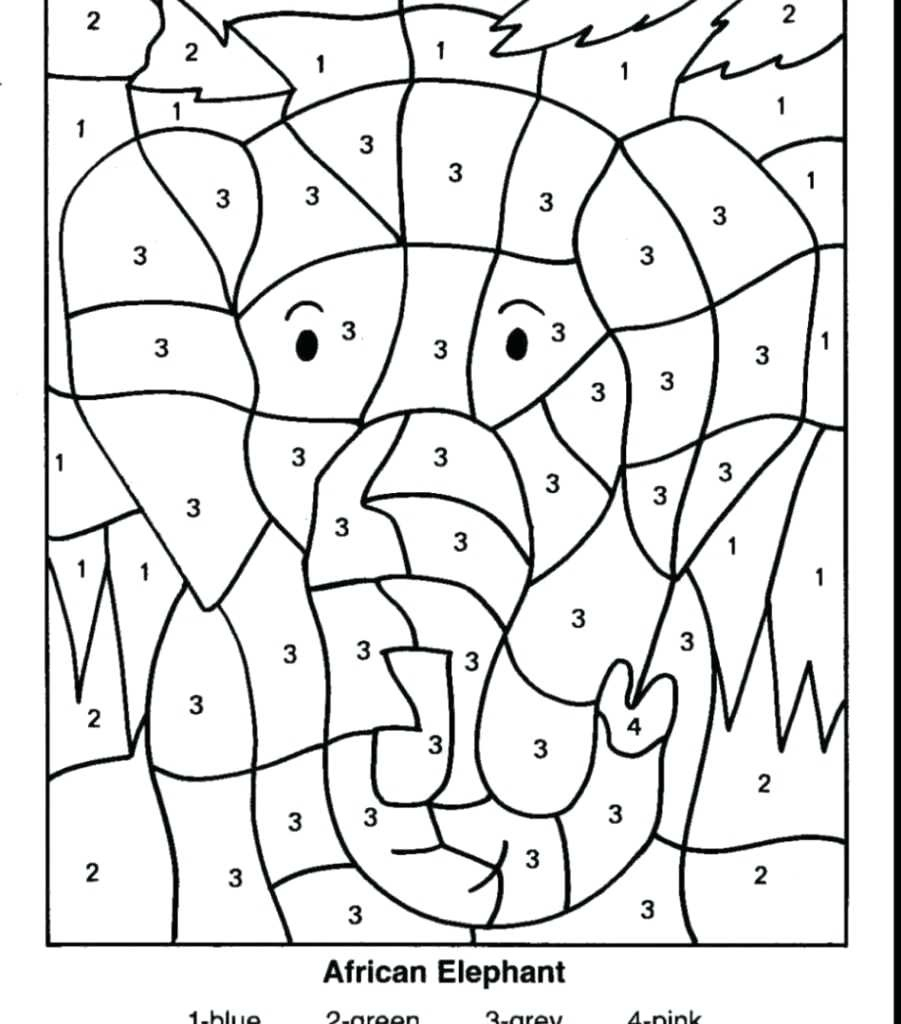 Free Printable Math Coloring Worksheets For 2Nd Grade
