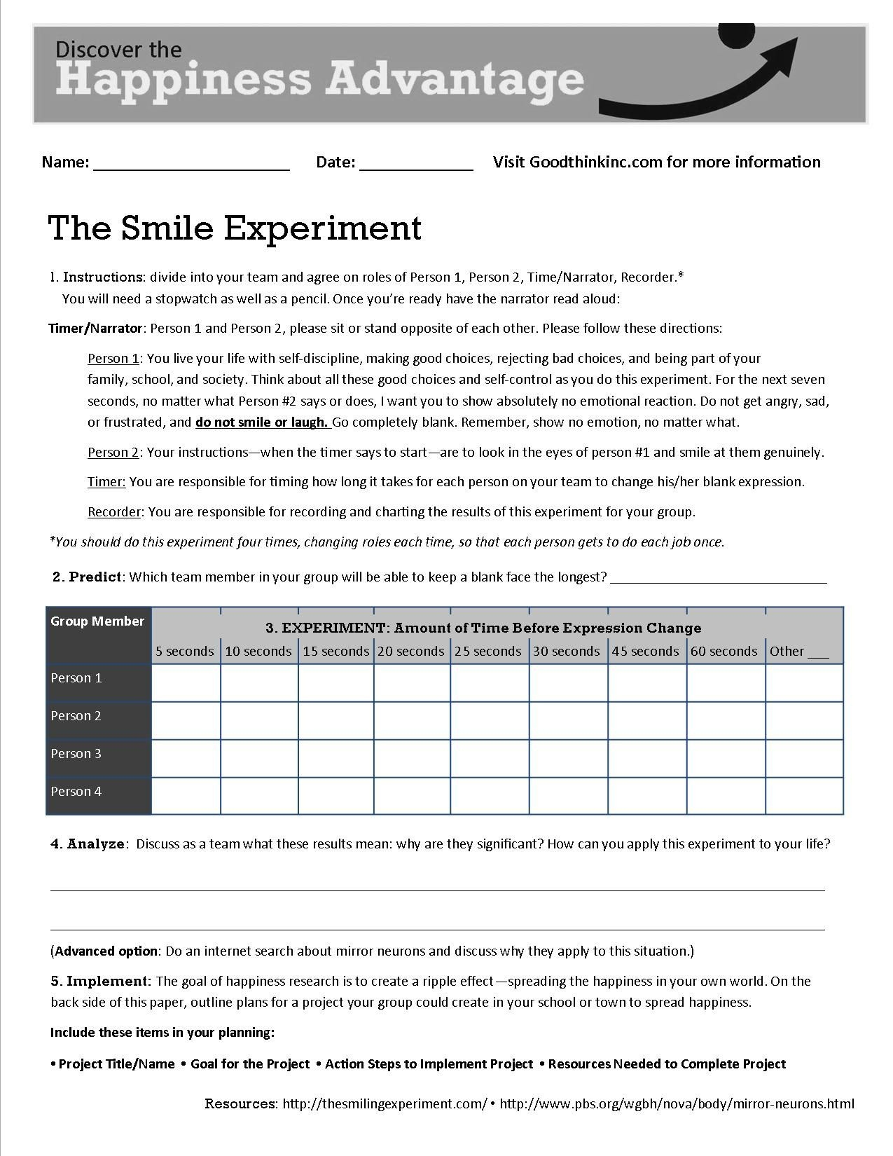 Free Printable Coping Skills Worksheets For Adults