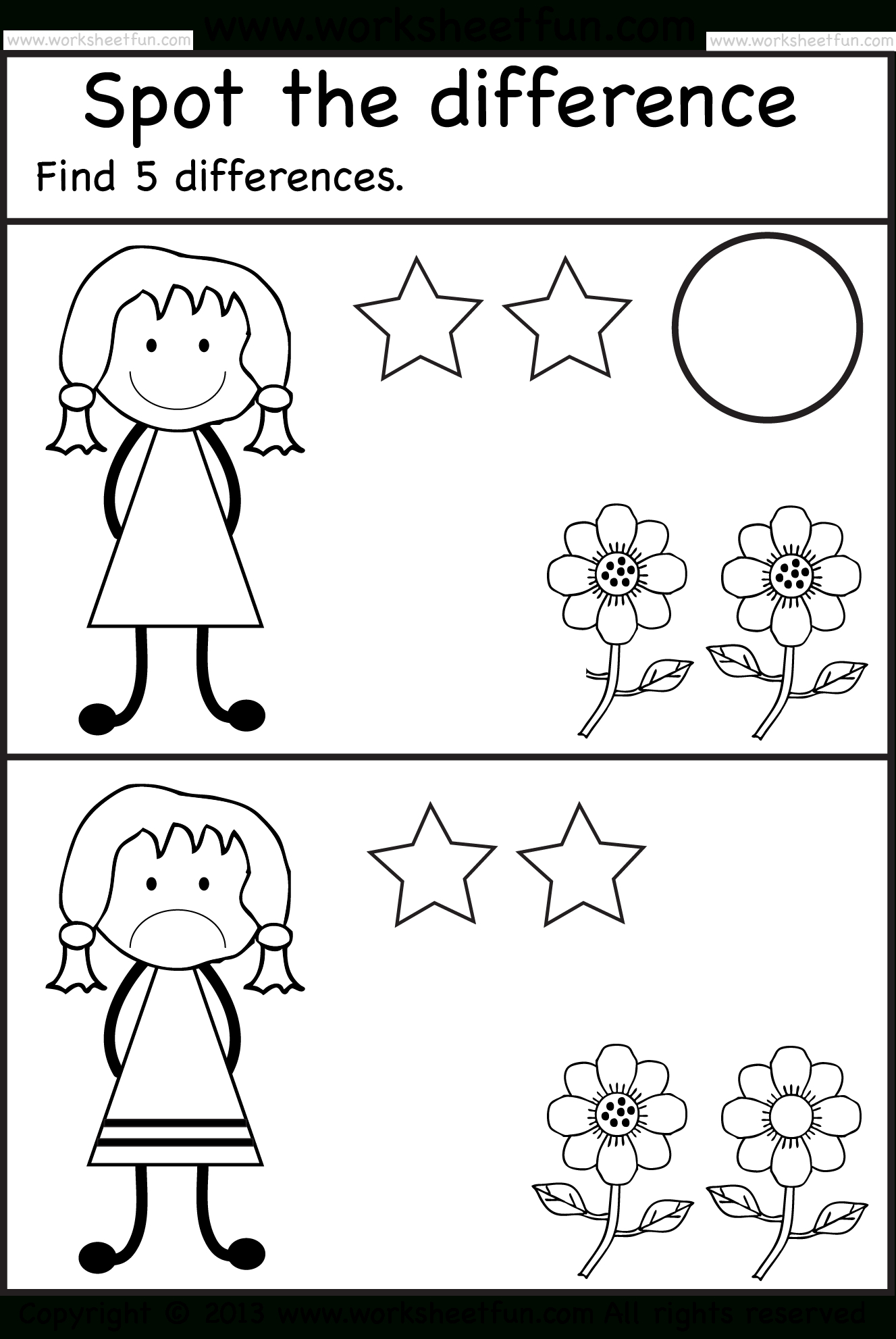 Free Printable Spot The Difference Worksheets