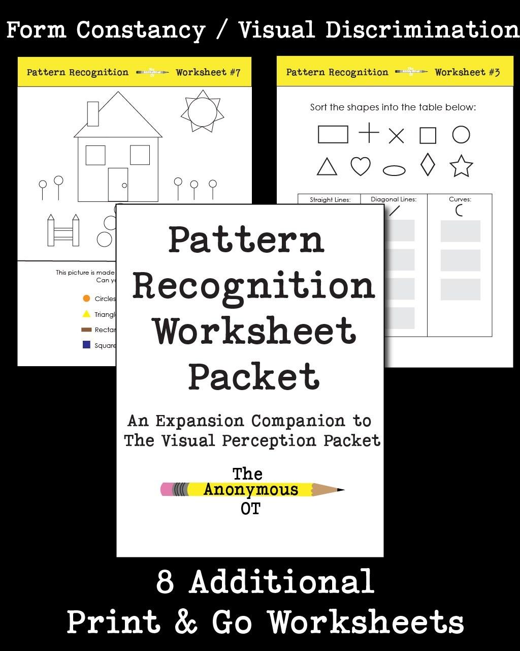 Free Printable Form Constancy Worksheets