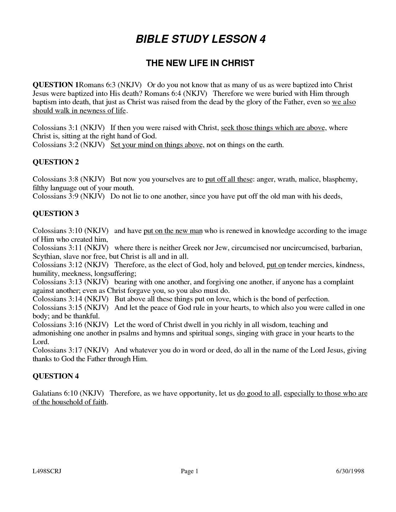 Printable Women S Bible Study Lessons Free