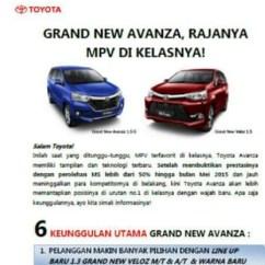 Pilihan Warna Grand New Avanza 2015 All Camry Hybrid 2019 Terbaru Menyandang Nama Dan Veloz