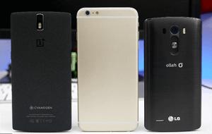 LG G3, iPhone pro, Oneplusone