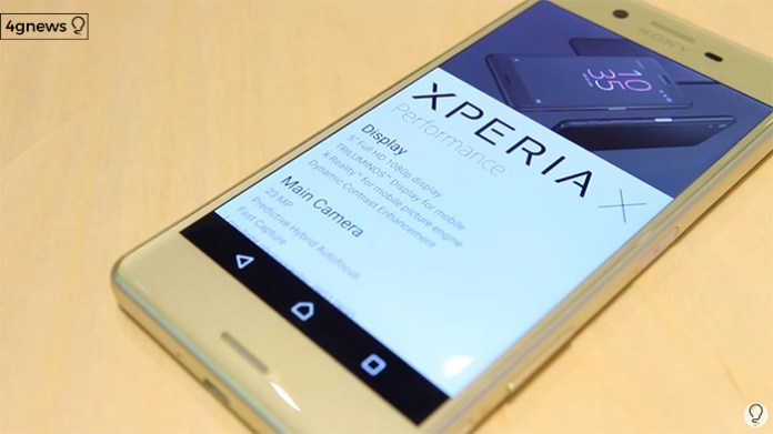 Sony Xperia X 4gnews