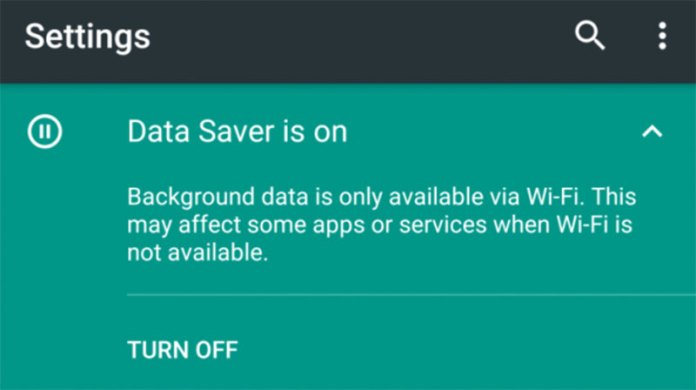 Android N - Data Saver