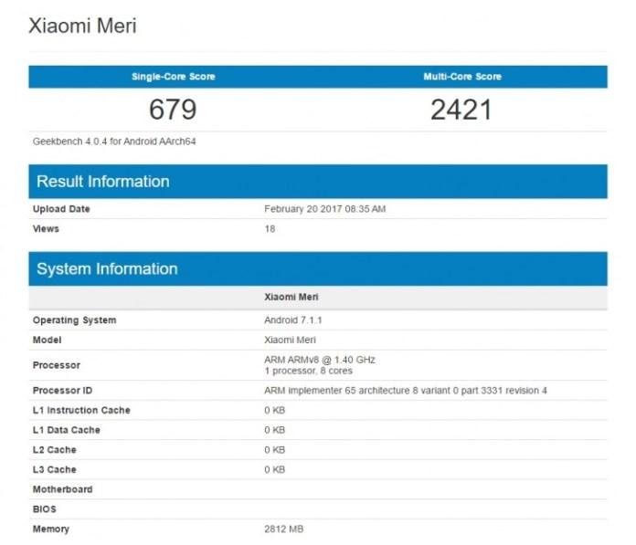 O Xiaomi Mi 5C passou hoje, dia 20 de fevereiro, pela GeekBench, tendo registado resultados que variam de alguns registos anteriores.