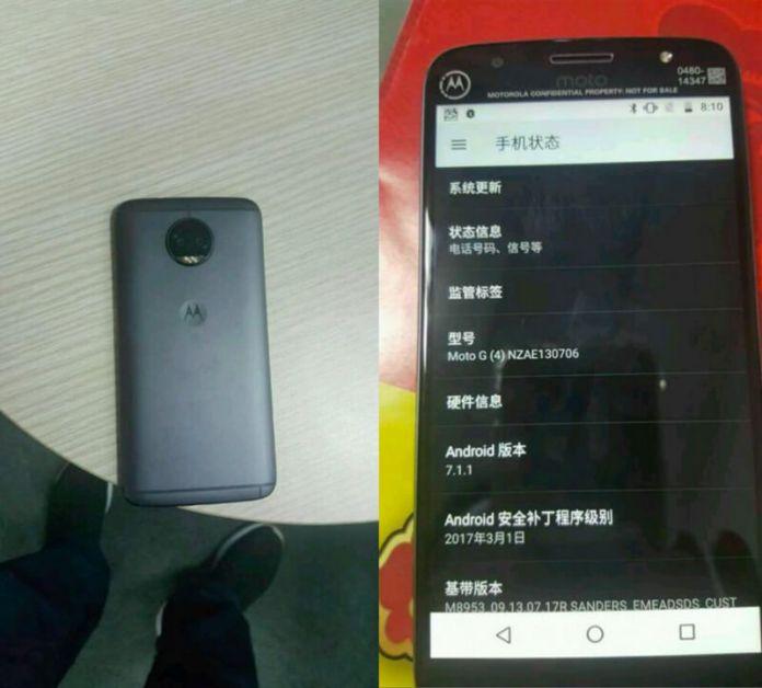Alegado Motorola Moto G5s Plus