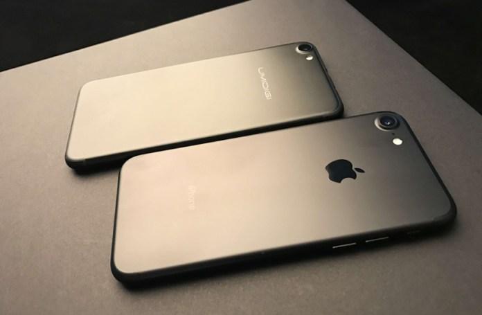 UMIDIGI G, a réplica do iPhone 7