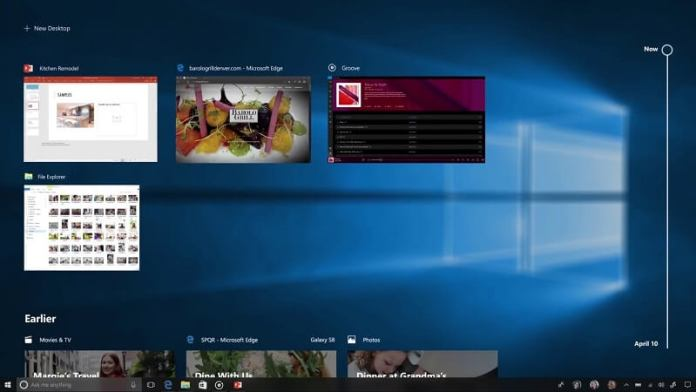 Timeline do Windows 10 para a Fall Creators Update