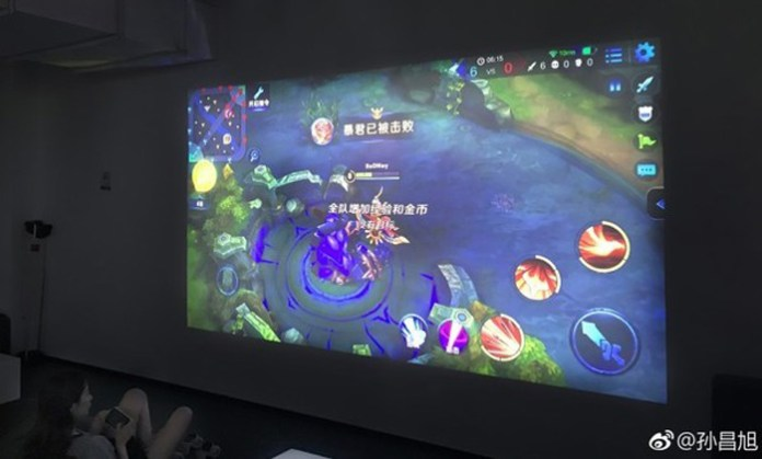 Alegada imagem do projetor Xiaomi