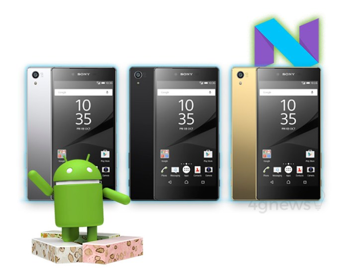 Android Nougat Sony Xperia Z5