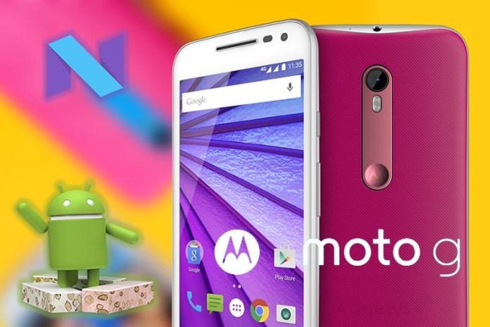Motorola Moto G3 Android 7 Nougat