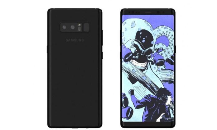 Samsung Galaxy Note 8 é visto mais uma vez antes da apresentação
