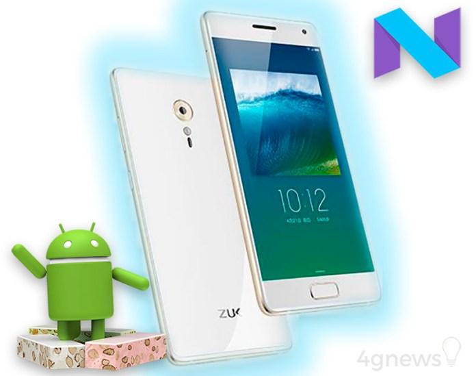 ZUK Z2 Android Nougat Lenovo