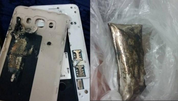 Samsung Galaxy J7 (2016) depois da combustão