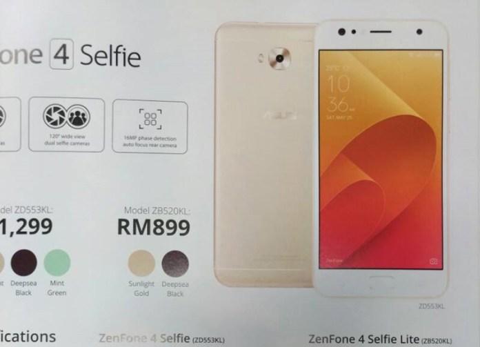 Asus ZenFone 4 Selfie Lite smartphone