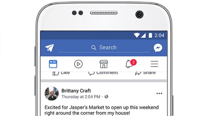 Facebook rede social update