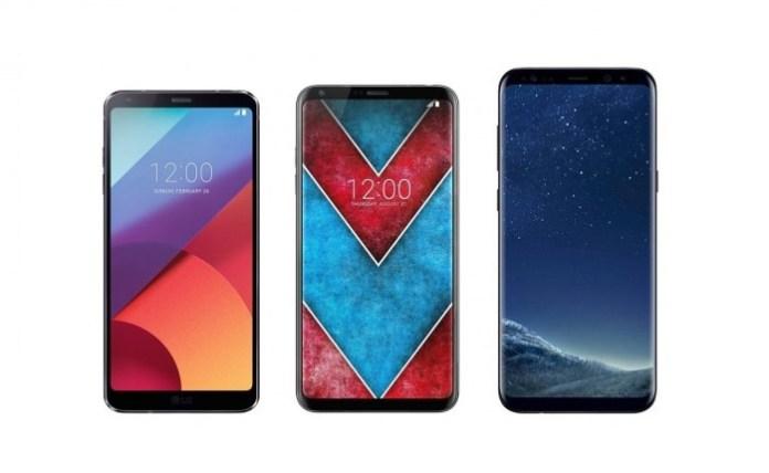 LG G6 - LG V30 - Samsung Galaxy S8+