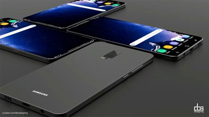 Concept do Samsung Galaxy S9; Imagem: DBS Designing