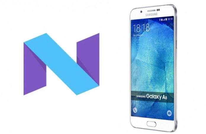 Samsung Galaxy A8 Android Nougat