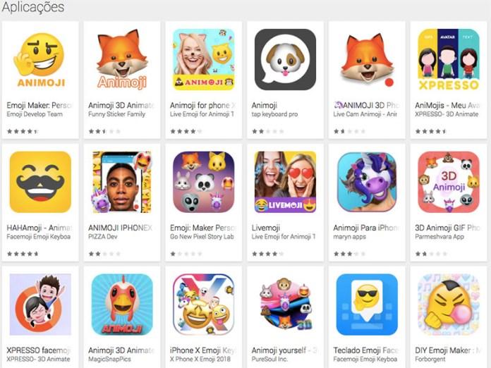 Animojis Google Play Store Android