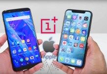 Apple iPhone X OnePlus 5T