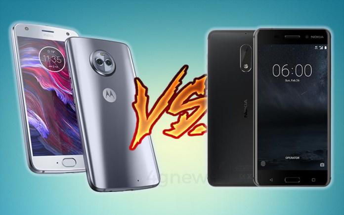 Nokia 6 Motorola Moto X4
