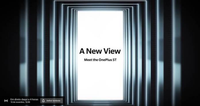 Vê aqui em direto a apresentação do OnePlus 5T