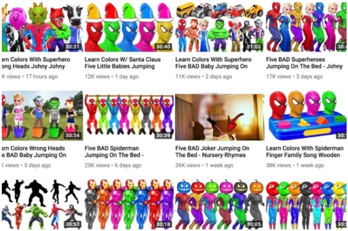 YouTube vídeos crianças Google