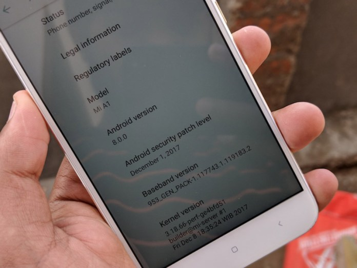 Xiaomi Mi A1 Android Oreo